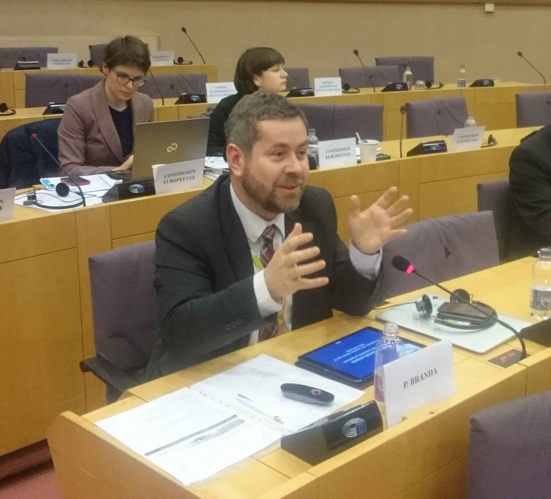 "Pavel Branda presented the opinion ""People-to-people projects and small scale projects in cross-border cooperation programmes"" at EP's REGI Committee meeting"