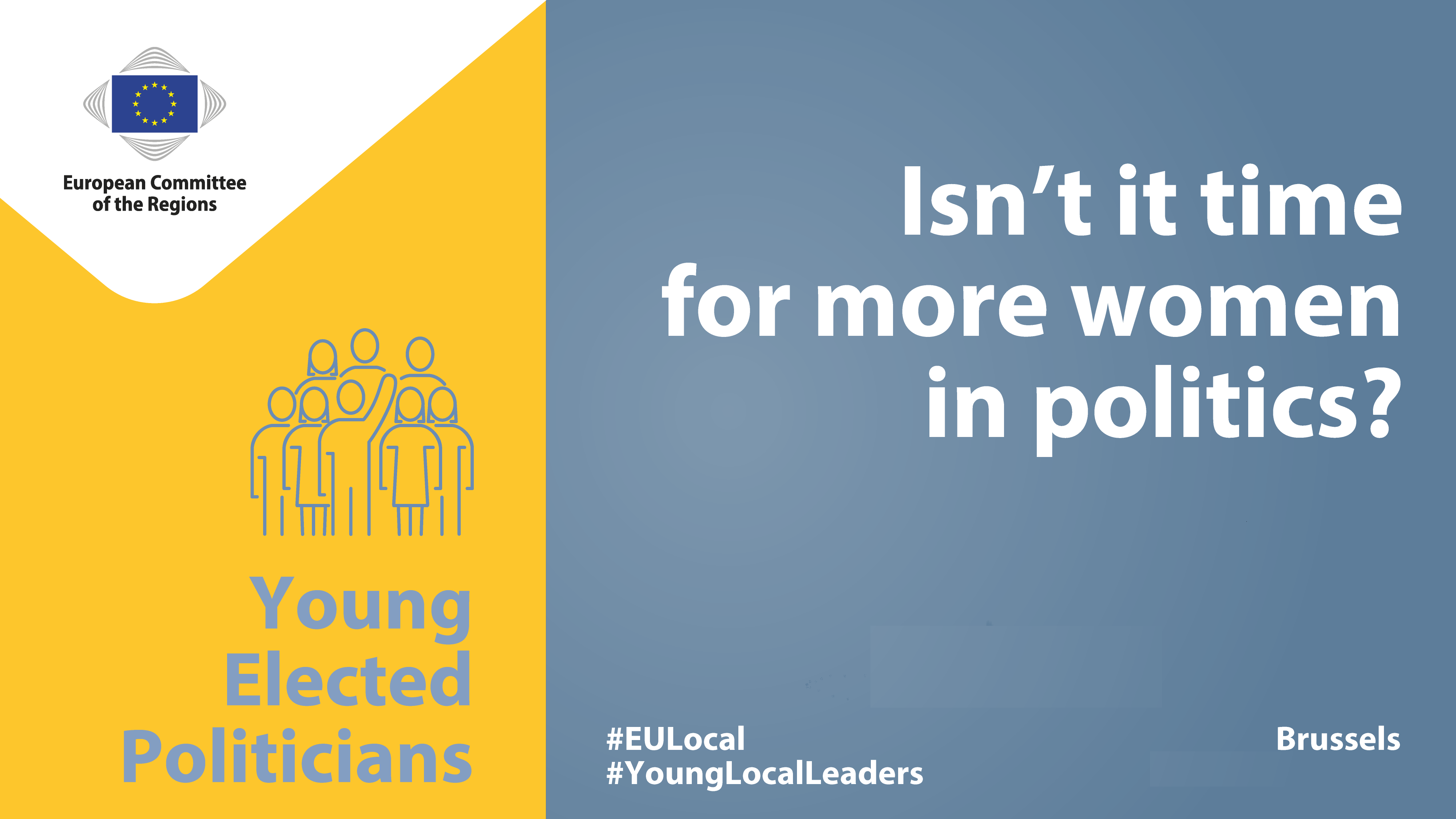 Young elected politicians – How is your region or city dealing with gender equality in policy making?