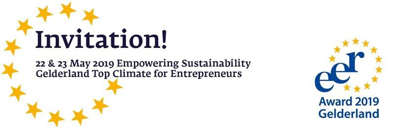 22 & 23 May Empowering Sustainability Gelderland Top Climate Entrepreneurs