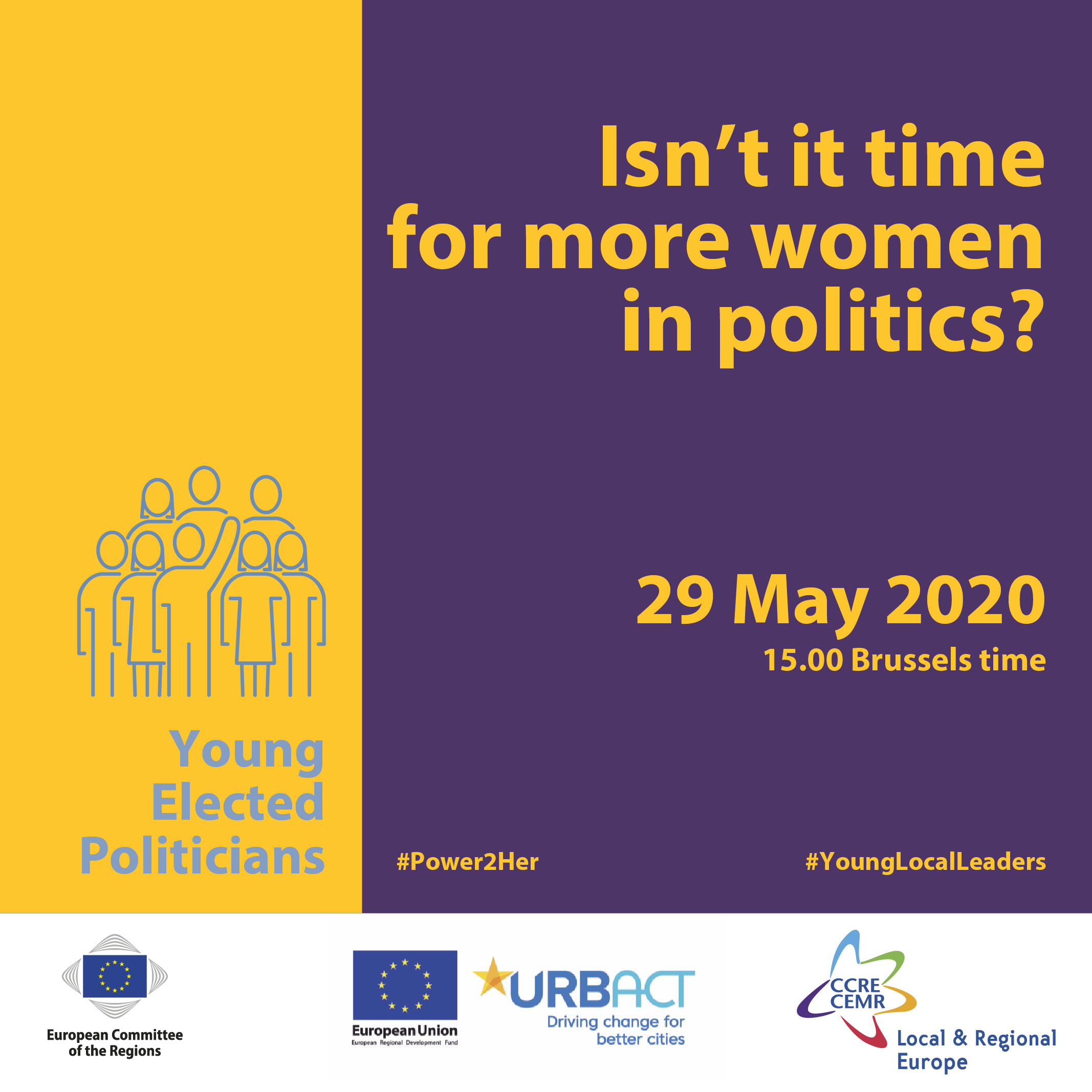 "Young Elected Politicians - Webinar ""Gender parity in politics: the state of play"""