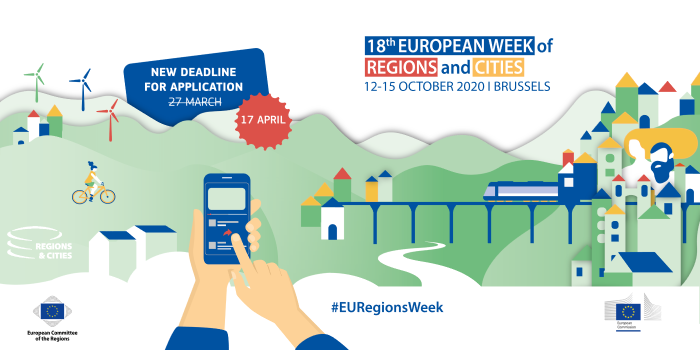 #EURegionsWeek call for partners remains open: apply by 17 April 2020!